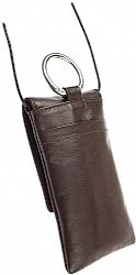 Krusell 95232 Edge Mobile Leather Pouch for iPhone 4/4S and Other Mobile Phones - Brown