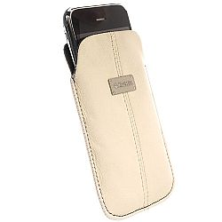 Krusell 95272 Luna XL Universal Leather Pouch - Sand/Black