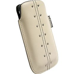 Krusell 95292 Kalix Large Mobile Leather Pouch for iPhone 4/4S and Other Mobile Phones - Sand