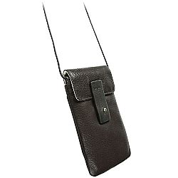 Krusell 95363 Tumba Stylish Leather Pouch for iPhone 5, HTC One, Samsung Galaxy S4, Blackberry Z10 and more - Espresso Brown