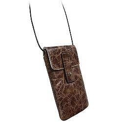 Krusell 95364 Tumba Stylish Leather Pouch for iPhone 5/5c/5s, Samsung Galaxy S4, Blackberry Z10 and more - Vintage Brown