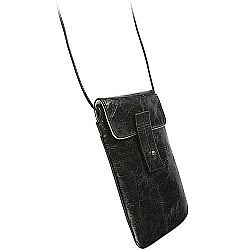 Krusell 95366 Tumba Stylish Leather Pouch for iPhone 5, HTC One, Samsung Galaxy S4, Blackberry Z10 and more - Vintage Black