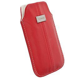 Krusell 95388 Luna 3XL Mobile Leather Pouch for Samsung Galaxy S4 and Other Smartphones - Red