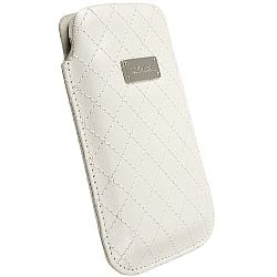Krusell 95390 Avenyn Mobile Pouch L Long for NEW iPhone 5 - White