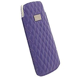 Krusell 95392 Avenyn Mobile Pouch L Long for NEW iPhone 5/5c/5s - Purple