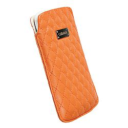 Krusell 95393 Avenyn Mobile Pouch L Long for NEW iPhone 5 - Orange