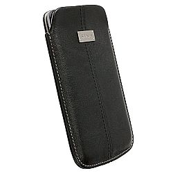 Krusell 95395 Luna Mobile Leather Pouch L Long for NEW iPhone 5/5c/5s - Black