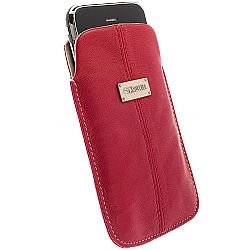 Krusell 95396 Luna Mobile Leather Pouch L Long for NEW iPhone 5/5c/5s - Red