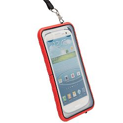 Krusell 95403 SEaLABox 3XL Waterproof Mobile Case for Samsung Galaxy S3, HTC One X, Motorola Droid RAZR MAXX and Other Smartphones - Red