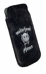 Motorheadphones 95439 Burner Leather Mobile Pouch L-Long for iPhone 5 - Black/White