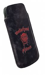 Motorheadphones 95440 Burner Leather Mobile Pouch L-Long for iPhone 5/5S/5S - Black/Red