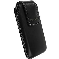 Krusell 95518 Vinga Large Leather Pouch - Black