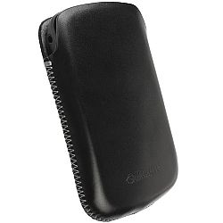 Krusell Donso 95530 Mobile Leather Pouch XL for Samsung Galaxy S II, Blackberry Bold Touch 9900/, Nokia Lumia 710 and other Mobile Phones - Black