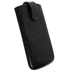 Krusell 95544 Aspero XXL Mobile Leather Pouch for Samsung i9100 Galaxy S II and Other Smartphones - Black