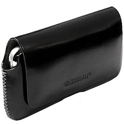 Krusell 95549 Hector 3XL Leather Pouch for Samsung Galaxy S4 and Other Smartphones - Black