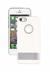 Moshi iGlaze Kameleon Designer HardShell Case with KickStand for iPhone 5 (White)