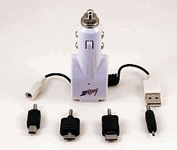 ZAP Portable Energy DC3 Car Charger for iPhones iPods and Cell Phones