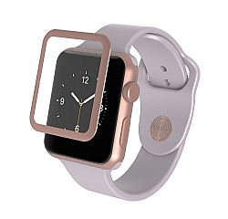 InvisibleShield Glass-Apple Watch (38mm)-Luxe Full Screen-Rose Gold
