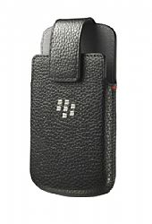 BlackBerry Leather Swivel Holster for BlackBerry Q10 - Black