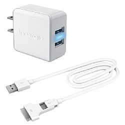 Innergie mMini Combo Dual USB Travel Charging Kit (3A) micro and 30pin apple