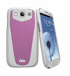 iSkin Aura Case for Samsung Galaxy S3 III (Pink/White)