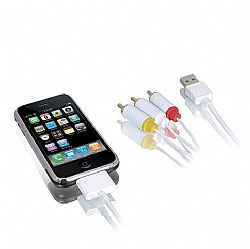 Macally Audio/video and USB sync cable for iPhone/iPod