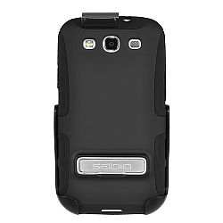 Seidio Active (w/ Kickstand) Case / Holster Combo for Samsung Galaxy S3 III (Black) OPEN BOX