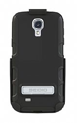 Seidio ACTIVE Case / Holster Combo with Metal Kickstand for Samsung Galaxy S4 - Black