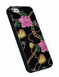 Betsey Johnson Fashion Case for iPhone 5 - Heart & Chain