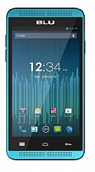 BLU Dash Music 4 (3G 850MHz AT&T) Dual-SIM Blue Unlocked Import