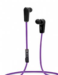 Jarv NMotion Sport Wireless Bluetooth 4.0 Stereo Earbuds/Headphones with In-Line Microphone  , Purple