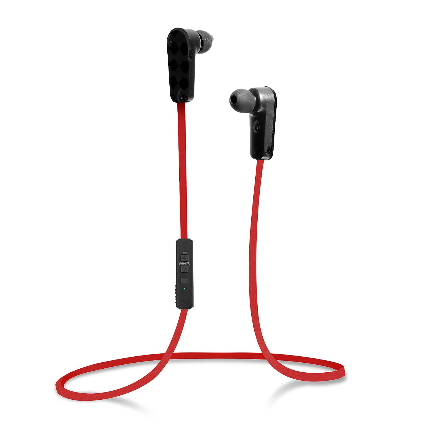 jarv nmotion sport wireless bluetooth stereo earbuds headphones with built in microphone red. Black Bedroom Furniture Sets. Home Design Ideas