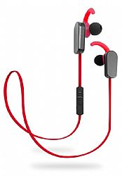 Jarv NMotion PLUS Sport Wireless Bluetooth 4.0 Stereo Earbuds with Built in Microphone, Red