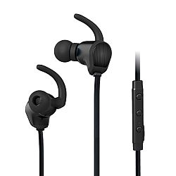 Jarv NMotion Exceed Sweat and Water Resistant Stereo Sport Wireless In-Ear Bluetooth Earbud style Headphones with Magnet - Black