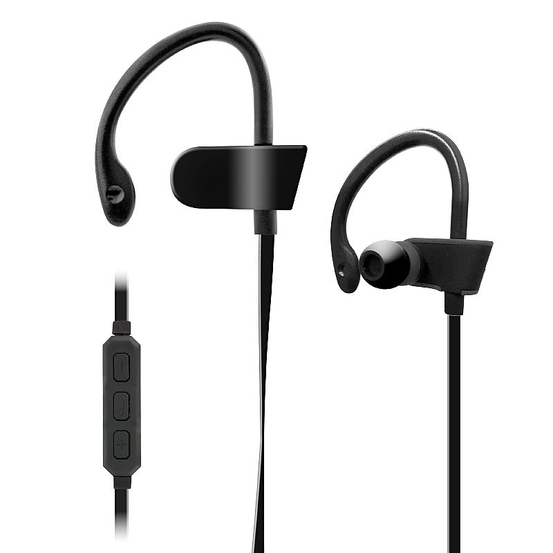 jarv bthl 52 bluetooth headphones with built in mic and volume control black at. Black Bedroom Furniture Sets. Home Design Ideas