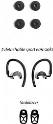 Jarv NMotion BTHL-201 Bluetooth Earbuds Replacement Parts Kit-1 pair of ear hooks , 1 pair of ear stabilizer , 1 pair of ear bud tips (small and large)