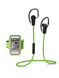 Jarv NMotion Sports Bluetooth Earbuds and Armband Bundle , Green