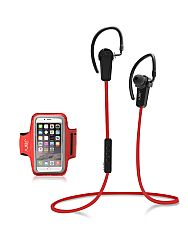 Jarv NMotion Bluetooth 4.0 Earbuds with Universal Sports Armband , Red