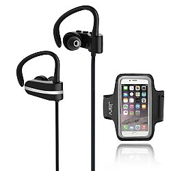 Jarv MACH 1 Sport Wireless  In-Ear Bluetooth Headphones with Universal Sports Armband, Black