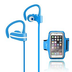 Jarv MACH 1 Sport Wireless  In-Ear Bluetooth Headphones with Universal Sports Armband, Blue