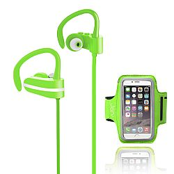 Jarv MACH 1 Sport Wireless  In-Ear Bluetooth Headphones with Universal Sports Armband, Green