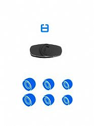 Jarv Mach 1 Wireless Bluetooth  Earbuds spare parts kits Blue