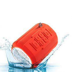 Jarv Big Shot Rugged Premium Water Resistant Bluetooth Stereo Speaker with FM Radio Tuner  - Orange