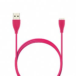 Jarv USB Charging cable for Fitbit CHARGE HR Wireless Activity Wristband - 3 Ft Pink