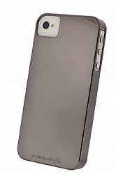 Case Mate Barely There for iPhone 4 / Verizon iPhone 4 with Mirror Screen Protector (Chrome)