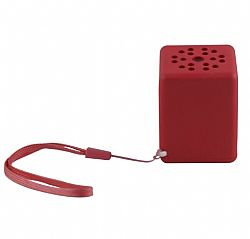 Quikcell Color Burst Sound Cube BlueTooth Speaker - Red