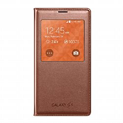 Samsung S-View Flip Cover for Samsung Galaxy S5 - Rose Gold