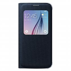 Samsung S-View Fabric Flip Cover Samsung Galaxy S6 - Black
