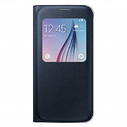 Samsung S-View PU Flip Cover for Samsung Galaxy S6 - Black