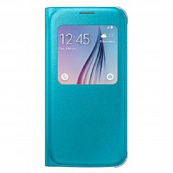 Samsung S-View PU Flip Cover for Samsung Galaxy S6 - Blue